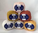 Пряжа хлопковая Vivchari Premium Cotton, Color No.6 бледно-персиковый, фото 2