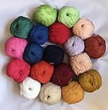 Пряжа хлопковая Vivchari Premium Cotton, Color No.6 бледно-персиковый, фото 5