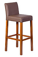 Высокий барный деревянный мягкий стул. Для кофейни, отеля, бара. Массив бука.( МГ-110)