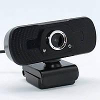 Веб-камера с микрофоном для компьютера W88C Full HD USB Webcam проводная с креплением