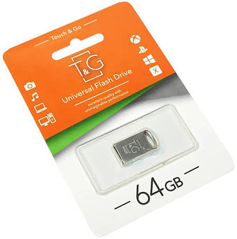 Флешка TG USB 105 64GB серебристая, фото 2