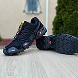 Чоловічі кросівки в стилі Salomon SpeedСross 3 чорні з сірою написом, фото 8