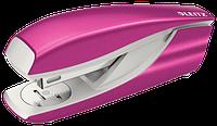 Степлер металевий Leitz New NeXXt WOW, 30 листів, колір рожевий металік, cкоба №24/6, 26/6, арт. 5502-10-23