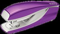 Степлер металевий Leitz New NeXXt WOW, 30 листів, фіолетовий металік, cкоба №24/6, 26/6, арт. 5502-10-62
