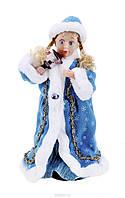 """Новогодняя Фигурка """"Снегурочка"""" - музыкальная, цвет: синий, 40 см."""