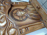 Б/У Иисус Христос резная икона с подсвечниками 50х50 см, фото 2