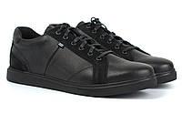 Взуття великих розмірів чоловічі шкіряні кросівки чорні кеди Rosso Avangard Puran Black Floto BS, фото 1