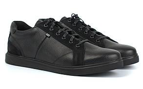 Обувь больших размеров мужские кожаные кроссовки черные кеды Rosso Avangard Puran Black Floto BS