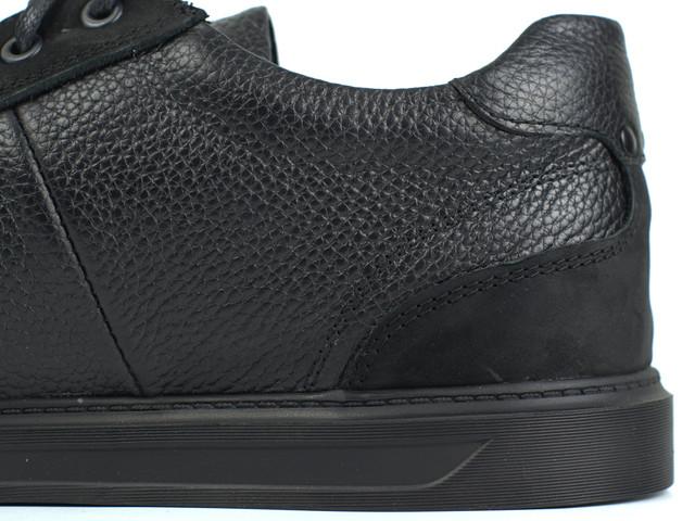 Взуття великих розмірів чоловічі шкіряні кросівки чорні кеди Rosso Avangard Puran Black Flot BS