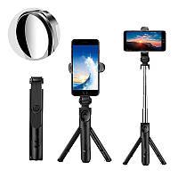 Bakeey XT09S обертання висувна Bluetooth пульт дистанційного Selfie палиця штатив з дзеркалом спортивні