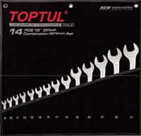 """Набор ключей комбинированных 14 шт. 8-32  """"Hi-Performance"""" TOPTUL GPAX1401, фото 1"""