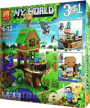 Конструктор Майнкрафт Minecraft My World Дом-корабль зомби, 279дет