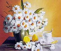 """Картина по номерам в коробке 40*50 см """"Ромашки в вазе"""",крас,акрил,кисть-3шт. RA3213"""