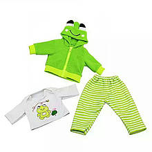 Набор одежды для куклы Костюм тройка зеленый Беби Борн Беби Анабель