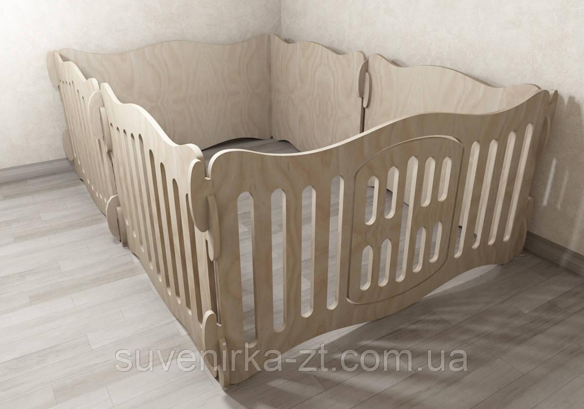 Домашний вольер (манеж) для щенков. 6 секции. Высота 49 см наружные габариты 80х120 см. С глухими секциями.