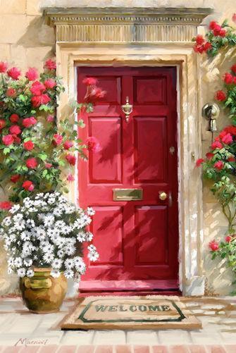 Картина рисование по номерам Brushme Цветочные двери GX4190 40х50см набор для росписи, краски, кисти холст
