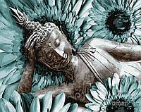Картина рисование по номерам Brushme Будда медитация GX29357 40х50см набор для росписи, краски, кисти холст
