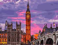 Картина рисование по номерам Brushme Лондон на закате GX29764 40х50см набор для росписи, краски, кисти холст