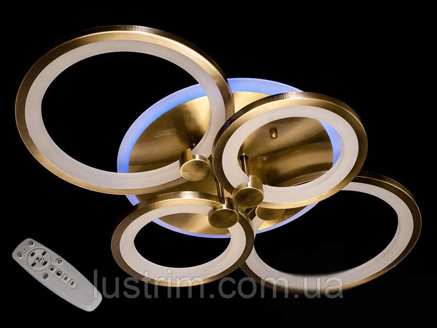 Світлодіодна LED-люстра з діммером і підсвічуванням, 85W
