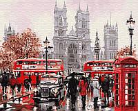 Картина рисование по номерам Brushme Дождливый Лондон GX8088 40х50см набор для росписи, краски, кисти холст