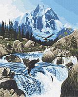 Картина рисование по номерам Brushme Холодное горный источник GX23899 40х50см набор для росписи, краски, кисти