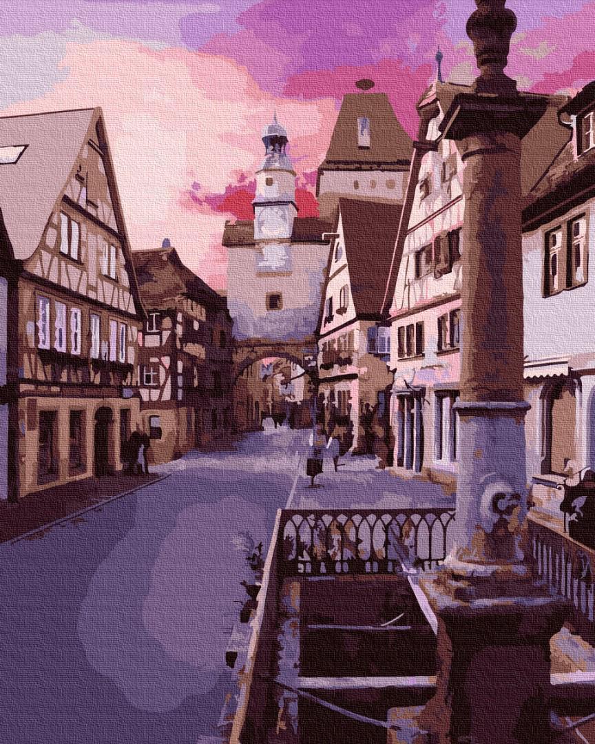 Картина рисование по номерам Brushme Город на восходе солнца GX29743 40х50см набор для росписи, краски, кисти