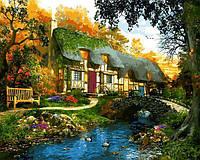 Картина рисование по номерам Babylon Дом у пруда VP1286 40х50см набор для росписи, краски, кисти, холст, фото 1