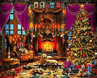 Картина рисование по номерам Babylon Рождественская елка VP1271 40х50см набор для росписи, краски, кисти,, фото 1