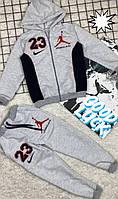 Спортивні костюми для хлопчиків на ріст: 122-128,128-134,134-140 см.Сірий Jordan