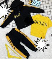 Спортивні костюми трійка для хлопчиків на ріст:92-98 см чорні з жовти