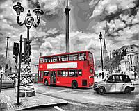 Картина рисование по номерам Brushme Лондонский автобус GX8246 40х50см набор для росписи, краски, кисти холст