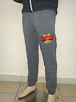 Спортивні штани для хлопчиків на ріст :98,104,110,116 см із принтом Бравл Старс трьохнить