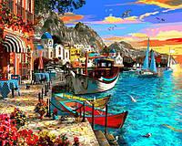 Картина рисование по номерам Babylon Город на берегу моря VP1280 40х50см набор для росписи, краски, кисти,, фото 1