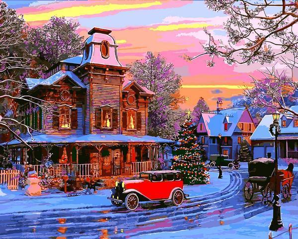 Картина рисование по номерам Babylon Праздничный городок VP1270 40х50см набор для росписи, краски, кисти,