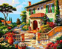 Картина рисование по номерам Babylon Вилла в цветах VP1296 40х50см набор для росписи, краски, кисти, холст, фото 1