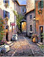 Картина рисование по номерам Brushme Тихая улочка GX4659 40х50см набор для росписи, краски, кисти холст