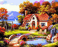 Картина рисование по номерам Babylon Сказочный домик VP1299 40х50см набор для росписи, краски, кисти, холст, фото 1