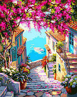 Картина рисование по номерам Babylon Лестница к морю VP1307 40х50см набор для росписи, краски, кисти, холст, фото 1