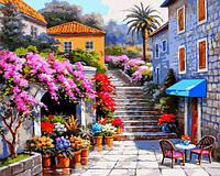 Картина рисование по номерам Babylon Цветочный магазин VP1300 40х50см набор для росписи, краски, кисти, холст, фото 1