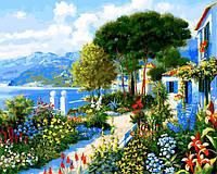 Картина рисование по номерам Babylon Сад у дома VP1292 40х50см набор для росписи, краски, кисти, холст, фото 1