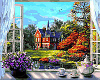 Картина рисование по номерам Babylon Окно в весну VP1273 40х50см набор для росписи, краски, кисти, холст, фото 1