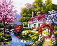 Картина рисование по номерам Babylon Весенний коттедж VP1306 40х50см набор для росписи, краски, кисти, холст, фото 1