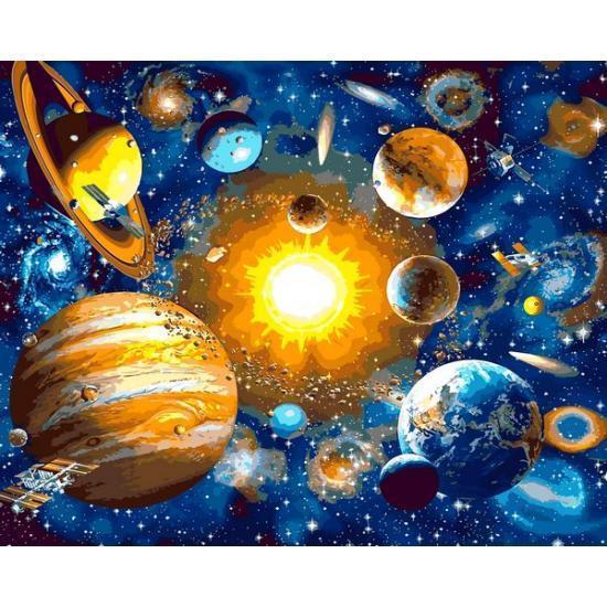 Картина рисование по номерам Mariposa Солнечная система Q2231 40х50см набор для росписи, краски, кисти, холст