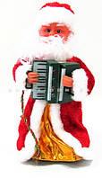 """Новогодняя Фигурка """"Деда Мороза с гармошкой"""" - музыкальная, цвет: синий, 30 см."""