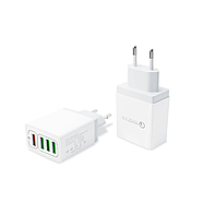 Зарядное устройство POWER Quick Charge 4xUSB 5A (Белое)Быстрая зарядка HM110W, фото 2