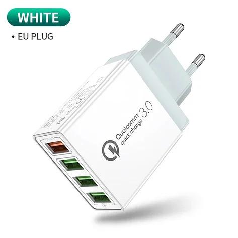 Зарядное устройство POWER Quick Charge 4xUSB 5A (Белое)Быстрая зарядка HM110W