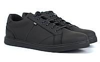Мужские кроссовки кожаные черные кеды обувь больших размеров Rosso Avangard Puran Mate Monza Black BS, фото 1