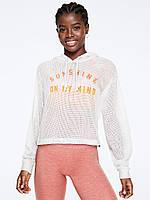 Женский белый пуловер в сетку PINK Victoria's Secret, фото 1
