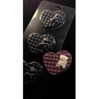 Пластиковая форма для шоколада Мишка на шоколадной подушке
