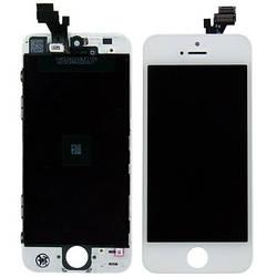 Дисплей для iPhone 5 білий (LCD екран, тачскрін, скло в зборі), Дисплей для iPhone 5 білий (LCD екран,
